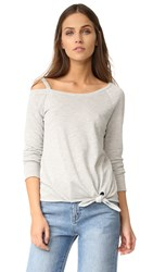 Generation Love Drexler Off Shoulder Sweatshirt Grey