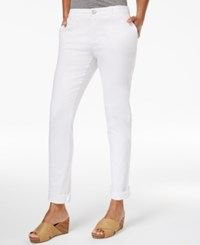 Style And Co Co. Chino Boyfriend Pants Only At Macy's Bright White