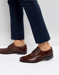 Pier One Leather Brogues In Brown