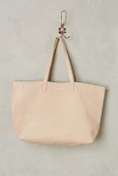 Anthropologie Oversized Leather Tote Rose