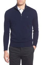 Ag Jeans Men's Ag 'Baker' Trim Fit Wool And Cashmere Half Zip Sweater Naval Blue
