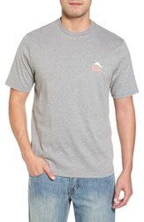 Tommy Bahama Morning Anchor Graphic T Shirt Grey Heather