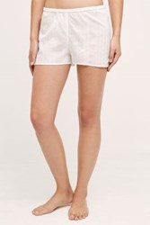 Anthropologie Shadow Plaid Shorts White