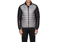 Isaora Men's Colorblocked Lightweight Down Quilted Jacket Grey
