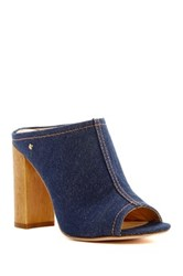 Vc Signature Tad Denim Hi Heel Mule Blue