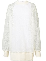 Vera Wang Pullover Dress With Slip White