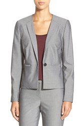 Petite Women's Halogen Stitched Lapel Stretch Suit Jacket