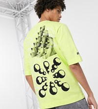 Noak X Will Harvey Printed T Shirt In Washed Neon Green
