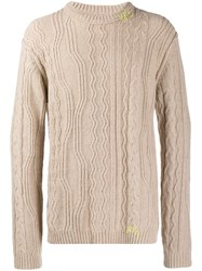 Zadig And Voltaire Cable Knit Jumper Neutrals