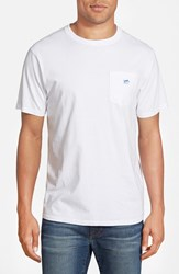 Men's Southern Tide Embroidered Pocket T Shirt White