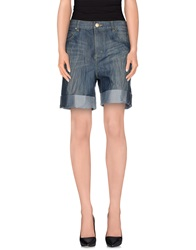 Amy Gee Denim Bermudas Blue