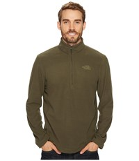 The North Face Tka 100 Glacier 1 4 Zip New Taupe Green New Taupe Green Men's Sweatshirt Gray