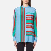 Diane Von Furstenberg Women's Long Sleeve Oversized Shirt Borel Multi