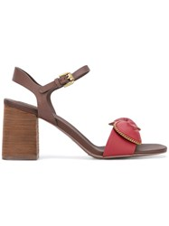 See By Chloe Chain Embellished Sandals Red