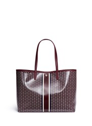 Tory Burch 'Gemini Link' Coated Canvas Tote Red