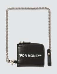 Off White Quote Chain Wallet Black