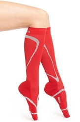 Women's Insignia By Sigvaris 'Performance' Graduated Compression Knee Socks Red
