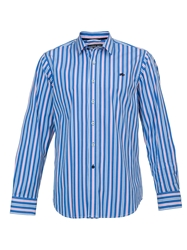 Raging Bull Big And Tall Long Sleeve Multi Stripe Shirt Navy
