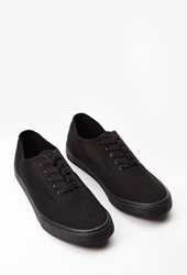 Forever 21 Classic Canvas Sneakers Black Black