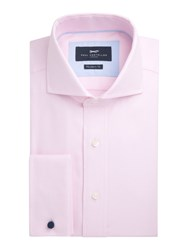 Paul Costelloe Richard Cotton Basketweave Shirt Pink