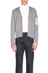 Thom Browne Classic Cashmere Cardigan In Gray