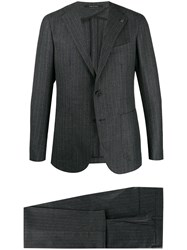 Tagliatore Pinstriped Two Piece Suit Grey