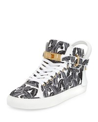 Buscemi 100Mm Palm High Top Sneaker Black White Black White