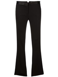 Versace Flared Tuxedo Trousers Black
