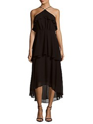 Cynthia Steffe Lilly Tiered Halter Dress Rich Black