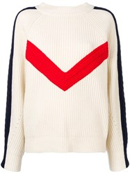 Sjyp Cable Tape Detailed Sweatshirt White