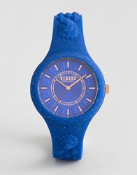 Versus By Versace Spoq19 Fire Island Glitter Silicone Watch In Blue