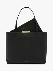Ted Baker Clarkia Leather Shopper Bag Black