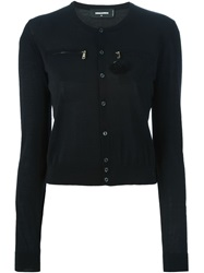 Dsquared2 Pompom Detail Cardigan Black