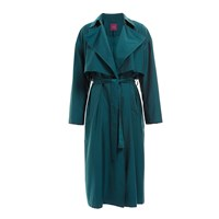 Wtr Sky Wool Blend Trench Coat Imperial Green