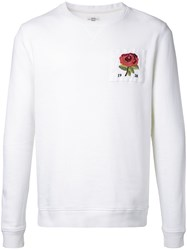 Kent And Curwen Floral Embroidery Sweatshirt White