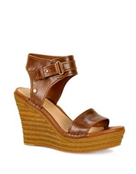 Ugg Maryanne Leather Sandals Rust