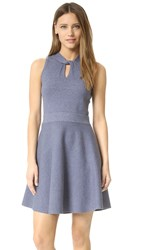 Milly Twist Flare Dress Chambray