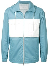 Cerruti 1881 Hooded Contrast Pocket Jacket Blue