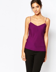 Ted Baker Tissa Printed Scallop Edge Cami Top Xgrape