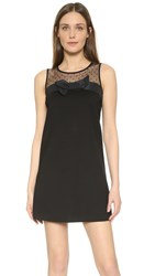 Red Valentino Tank Dress With Bow Detail Black