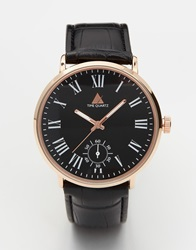 Asos Watch With Roman Numerals Black