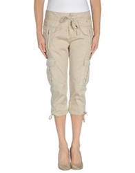 Liu Jeans 3 4 Length Shorts Beige