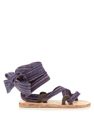 Brother Vellies Zanzibar Bovine Ankle Wrap Sandals Multi
