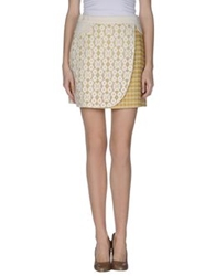 Moschino Cheap And Chic Moschino Cheapandchic Mini Skirts Yellow