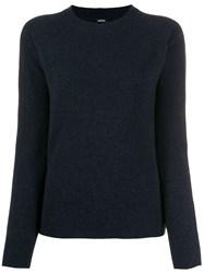 Aspesi Relaxed Fit Crew Neck Jumper Blue