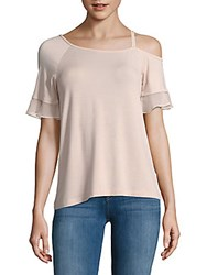 Saks Fifth Avenue One Shoulder Sleeve Blouse Blush
