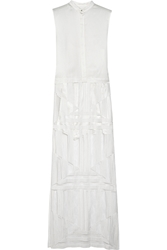 Sass And Bide Piqua And Embroidered Tulle Maxi Dress