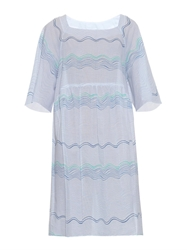 Thierry Colson Nina Wave Stripe Print Cotton Dress