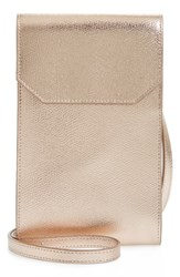 Nordstrom Metallic Leather Phone Crossbody Bag Metallic Rose Gold