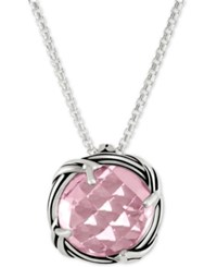 Peter Thomas Roth Rose Quartz Adjustable Pendant Necklace 4 Ct. T.W. In Sterling Silver